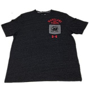 Maryland Terrapins Charcoal Chest Pocket Logo SS T-Shirt