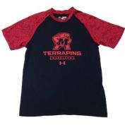 Maryland Terrapins YOUTH Black HeatGear Short Sleeve T-Shirt