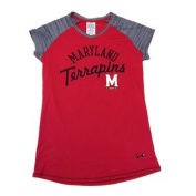 Maryland Terrapins YOUTH Red HeatGear Performance T-Shirt