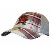 Maryland Terrapins Top of the World Youth Plaid Mesh Adjustable hook and loop Hat Cap