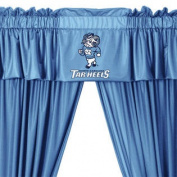 NCAA North Carolina Tar Heels 5pc Long Curtain-Drape Valance