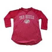 North Carolina Tar Heels Gear for Sports Women Pink 3/4 Sleeve T-Shirt
