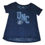 North Carolina Tar Heels Gear Women Navy Burn Out Lightweight T-Shirt