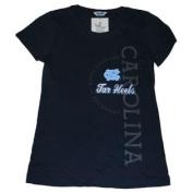 North Carolina Tar Heels Cotton Exchange Women Navy Half Circle Logo T-Shirt