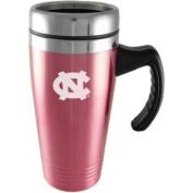 North Carolina Tar Heels Engraved 470ml Stainless Steel Travel Mug - Pink