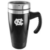 North Carolina Tar Heels Engraved 470ml Stainless Steel Travel Mug - Black