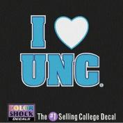 North Carolina Tar Heels Decal - I Heart Over Unc