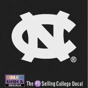 North Carolina Tar Heels Decal - Nc Logo - White