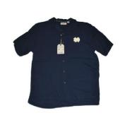 Notre Dame Fighting Irish Chiliwear Navy Short Sleeve Button Up T-Shirt