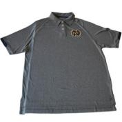 Notre Dame Fighting Irish Chiliwear Grey Performance Golf Polo T-Shirt
