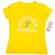 Pittsburgh Panthers 47 Brand Women Yellow Scoop Neck Short Sleeve T-Shirt
