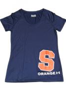 Syracuse Orange Under Armour Women Navy Semi-Fitted HeatGear T-Shirt