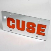Syracuse Orange 'cuse Licence Plate - Silver / Mirrored