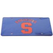 Syracuse Orange Licence Plate - Blue