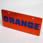 "Syracuse Orangemen ""orange"" Licence Plate - Orange Mirrored"