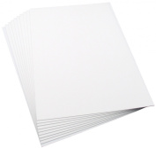 Plasticard, Ten Assorted Matt White Styrene Sheets, Two Each Of 0.25mm, 0.5mm, 0.75mm, 1mm & 1.5mm. All sheets Are 220mm x 325mm.