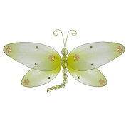 The Butterfly Grove Taylor Dragonfly Decoration 3D Hanging Mesh Organza Nylon Decor, Yellow Daffodil, Medium, 25cm x 15cm