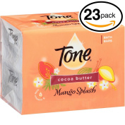 (PACK OF 23 BARS) Tone Soap Bath Bar, Mango Splash. COCOA BUTTER, BOTANICALS & VITAMIN-E. Rich & Creamy Lather! Great for Hands, Face & Body!