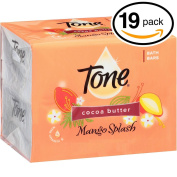 (PACK OF 19 BARS) Tone Soap Bath Bar, Mango Splash. COCOA BUTTER, BOTANICALS & VITAMIN-E. Rich & Creamy Lather! Great for Hands, Face & Body!