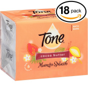 (PACK OF 18 BARS) Tone Soap Bath Bar, Mango Splash. COCOA BUTTER, BOTANICALS & VITAMIN-E. Rich & Creamy Lather! Great for Hands, Face & Body!