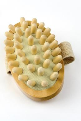AnHua® Anti Cellulite Massager Body Circulation Brush Hand-Held Wood Sauna Spa Bath Shower Body Brush S Size