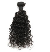 Rosette Hair Water Wave Hair Wave Hair Extension/weft, 100% Brazilian Virgin Remy Human Hair with Unprocessed Natural Black Colour, Size 30cm - 60cm