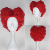 Miss U Hair Alice Red Queen Wig in Wonderland Women Short Red Curly Movie Cosplay Wig