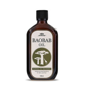 Sprime Baobab Oil 100 ml / 3.4 Oz Natural Hair Treatment Oil for Supply Nutrients & Moisture / Prevent External Stimulated Damage / Maintain Healthy Hair