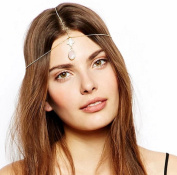 Leiothrix Bohemian Alloy with Diamond Headband for Women and Girls Apply to Weeding Party Casual