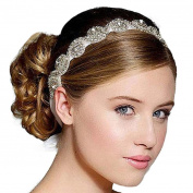 AutumnFall® Handmade Rhinestone Crystal Bohemia . Crystal Beaded Elastic Fashion Headband Hair Band Accessory