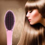Creative Hair Straightener Hair Brush Instant Straightening Styling Tools Heating Massage Anti Static Ceramic Anti-Scald Comb Detangling Hair Brush