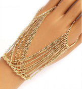 Leiothrix Vintage Multilayers Conjoined Finger Alloy Hand Chain for Women and Girls on Any Occasion