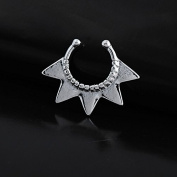 Oasis Plus Silver Star Non Piercing Clip On Septum Fake Nose Ring Stud Rings Body Jewellery