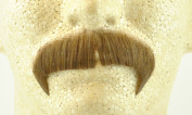 Rubies Winchester Moustache LIGHT BROWN - no. 2028 - REALISTIC! 100% Human Hair