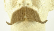 Rubies Colonel Major Moustache LIGHT BROWN - no. 2014 - REALISTIC! 100% Human Hair