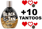 Millenium Tanning BLACK & TAN BRONZER 75x Indoor Tanning Bed Lotion 400ml with FREE Tanning Tattoo Stickers