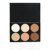 EVERMARKET Makeup Contour Kit Highlight and Bronzing Powder Palette - 6 Colours