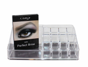 1 Cameo Cosmetics Perfect Brow- Dark + 1 Clear Acrylic 16 Compartments Cosmetics Organiser