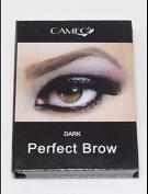 Cameo Cosmetics Perfect Brow- Dark Brown Eyebrows Brush Stencils Tweezer Brush **WPYST**