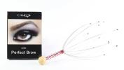 Cameo Cosmetics Perfect Brow- Dark & 1 Head Scalp Massager Brown Eyebrows Colour Brush Stencils Tweezer Brush
