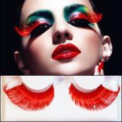 Hiibaby® 1PCS Party Eyelashes New Sexy Fun Ladies Styles Handmade Reusable Long Thick Fancy Party Feather False Eyelashes Makeup Eye Lashes