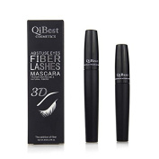 Qibest 3d Fibre Lashes Cosmetics Black Double Lash Eyelash Waterproof 2015 New Mascara