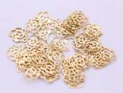 Gauze and workshop watermark Charm rose (about 10x9mm) about 50 gold cans with 1 hole watermark part metal parts Sewing Supplies resin material goods nail parts