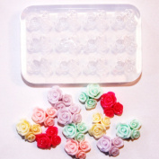 Clear-silicone flowers 12 roses mould.Three Rose,good for pendant,earrings,bracelet,art,craft, .Handmade item.
