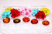 Clear-silicone flowers, beads mould.Flowers 40mm,Round-15mm,good for pendant,earrings,bracelet,art,craft.