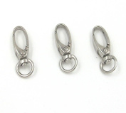 20 Swivel Lanyard Hook Snap Lobster Clip Clasp Lanyard Chain Holder Diy 37x9mm Metal Claw Jewellery Findings