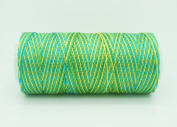 VARIEGATED BRAZIL 0.6mm 100% Nylon Twisted Cord Thread Micro Macrame Beading Knitting Crochet Needle Crafts