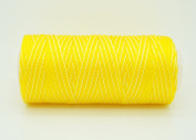 VARIEGATED YELLOW 0.6mm 100% Nylon Twisted Cord Thread Micro Macrame Beading Knitting Crochet Needle Crafts