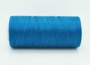 OCEAN BLUE 0.6mm 100% Nylon Twisted Cord Thread Micro Macrame Beading Knitting Crochet Needle Crafts