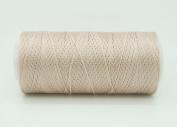 DARK BEIGE 0.6mm 100% Nylon Twisted Cord Thread Micro Macrame Beading Knitting Crochet Needle Crafts